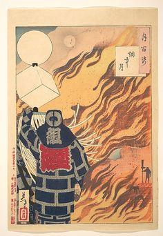 One Hundred Aspects of the Moon (The Moon in Flame)    Tsukioka Yoshitoshi    The Metropolitan Museum of Art