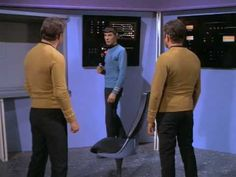 Star Trek - Spock makes his way to the control room with a phaser...only to find two identical Captain Kirks (Whom Gods Destroy)