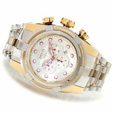 Invicta Reserve Mens Bolt Zeus Swiss Made Quartz Chronograph Bracelet Watch