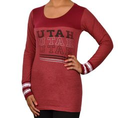 University of utah Long Sleeved Shirt. #goutes #universityofutah #shopred