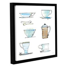 """Lark Manor 'Good Brew XI' Framed Painting Print on Wrapped Canvas Size: 24"""" H x 24"""" W x 2"""" D"""