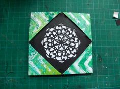Scrappy Sticky Inky Mess makes a gelli® photo cube!