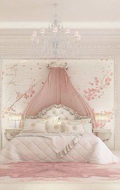 Luxury Girl Bedroom Design Ideas To Inspire you Interior Design - Bedroom Design: Luxury Girl Bedroom Design Ideas To Inspire you In… - Dream Rooms, Dream Bedroom, Home Bedroom, Bedroom Decor, Luxury Kids Bedroom, Bedroom Furniture, Fairytale Bedroom, Bedroom Fun, Baby Bedroom