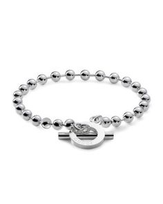 a42b06f72 Buy Gucci by Gucci Boule Sterling Silver Bracelet from our Brands range -  Silver, - @ Leonard Dews
