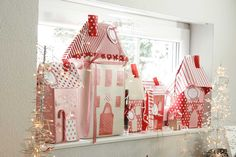 DIY Dezember: Paperart acufactum Weihnachtsdorf #acufactum #paperart #winter…