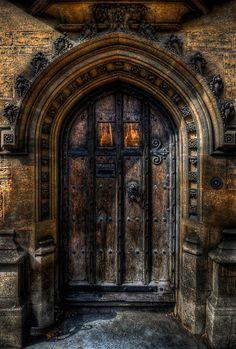 Old College Door - Oxford