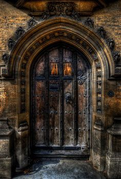 Old College Door - Oxford