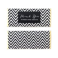 Mod Chevron Personalized Candy Bar Wrapper - Sweet Paper Shop