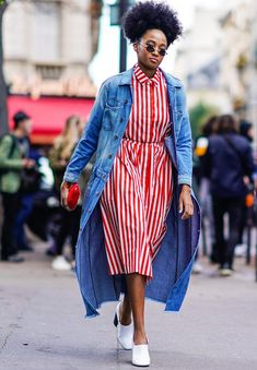 Want to know how to really wear a denim jacket for 2018? We've got a few cool girls to give us an idea.