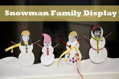 Snowman Family Display