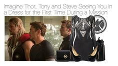 """""""Imagine Thor, Tony and Steve Seeing You in a Dress for the First Time During a Mission"""" by fandomimagineshere ❤ liked on Polyvore featuring MICHAEL Michael Kors, French Connection, women's clothing, women, female, woman, misses and juniors"""