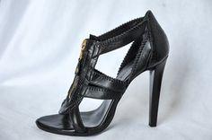Balenciaga Paris Womens Black Open Toe Ankle Bootie Boot Zip Up Pump 7 5 37 5 | eBay