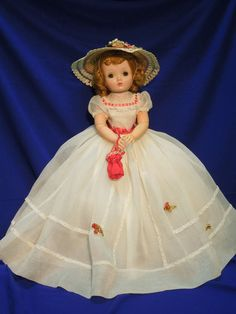 """Vintage 50s Madame Alexander 20"""" Cissy doll in tagged outfit #2091 #Dolls"""