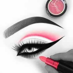 @hindash's killer artistry using @sigmabeauty shadow… Get your Sigma on at Sleekhair.com and get a free mini angle brush with a $50 Sigma purchase!