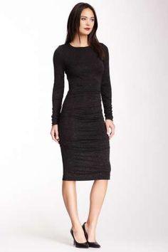 Nicole Miller Kimberly Speckle Lurex Jersey Dress
