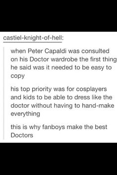 Peter Capaldi's wardrobe