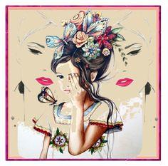 """Bimba"" by stylepetronio ❤ liked on Polyvore featuring art"