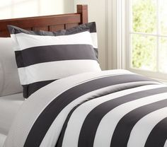 Rugby Stripe Duvet Cover | Pottery Barn Kids