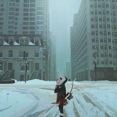 """Lost My Way"": Post-Apocalyptic Adventures In Melancholic Artworks Of Yun Ling Illustrations, Illustration Art, Bg Design, Eyes Artwork, Villainous Cartoon, Jeep Wranglers, Environment Concept Art, Environmental Art, Post Apocalyptic"