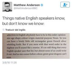 Omg why don't they teach us!!! I feel like we all do this anyway bc it sounds right and the French can sometimes say it backwards?...