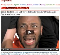 VIDEO: This was so disturbing. I was so moved by Mos Def's voluntarily demonstration of the force-feeding procedure that 100 hunger-striking Guantanamo Bay prison detainees have to undergo twice daily. This is torture. And the raw video via The Guardian is not for the faint of heart. #HumanRights