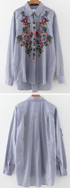 French hot style-vintage stripe blouse.50% off at shein.com.