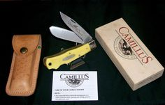 Camillus 716 Yello Jaket Knife & Sheath Dual Locking W/Packaging,Papers USA Made @ ditwtexas.webstoreplace.com