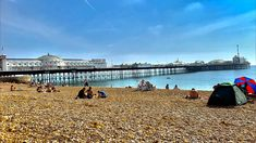 Visit At Home With Alice to read all about what you can do in Brighton... Seaside Resort, Seaside Towns, Brighton And Hove, Pebble Beach, Great Places, Sunny Days, Night Life, Dolores Park, Places To Visit