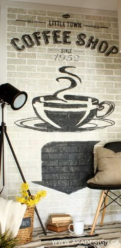 painted brick wall sign 340x700 How to Create Old Brick Wall Advertising in Your House!