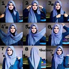 What is hijab? Hijab is the head scarf which is usually worn by the Muslim women. Square Hijab Tutorial, Simple Hijab Tutorial, Hijab Simple, Hijab Style Tutorial, Turban Hijab, Hijab Chic, Stylish Hijab, Hijab Mode Inspiration, Style Inspiration