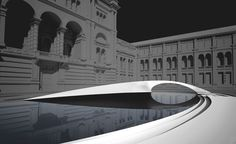 Zaha Hadid's 'Crest' installation to transform the V&A's garden during the London Design Festival Colour Architecture, Architecture Details, Landscape Architecture, Zaha Hadid Buildings, London Design Festival, Zaha Hadid Architects, Gothic House, Built Environment, Modern Design