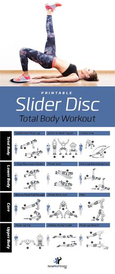Slider Disc Total Body Workout | Posted By: AdvancedWeightLossTips.com