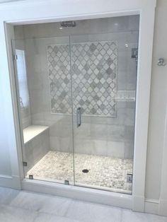 Badezimmer - Bathrooms 41 Captivating Small Master Bathroom Ideas Your Style, Your Budget Tired of o Basement Bathroom, Bathroom Interior, Modern Bathroom, Bathroom Remodeling, Bathroom Gray, Bathroom Layout, Bathroom Bin, Remodel Bathroom, Minimalist Bathroom