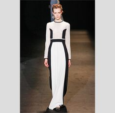 Vestidos brancos e pretos para noivas de Alberta Ferretti. #casamento #vestido #branco #preto