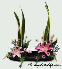 basket flower arrangement - Google Search