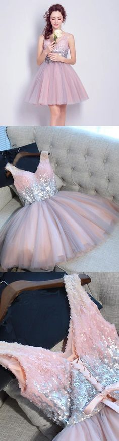 Short Pink Homecoming Prom Dresses With Bandage Lace Up Mini Outstanding