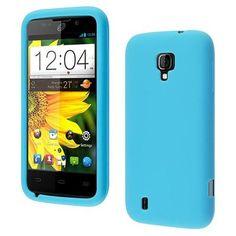 Insten Sky Blue Silicone Rubber Gel Soft Skin Case Cover For ZTE Majesty Z796C
