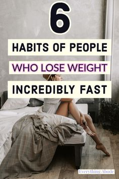 6 Habits of People Who Lose Weight Fast #loseweight How to Lose Weight Fast #loseweightfast #everythingabode 6 Habits For Weight Loss Trying To Sleep, To Strive, Mindful Eating, Weight Control, Regular Exercise, Weight Loss Goals, Physical Activities, Eating Well, Healthy Weight