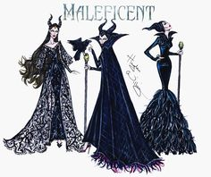 Hayden Williams Fashion Illustrations | Maleficent collection by Hayden Williams