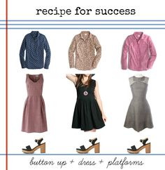 recipe for success: button up + sleeveless dress
