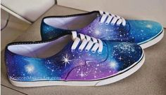 Galaxy Vans on Etsy Galaxy Converse, Diy Galaxy Shoes, Vans Converse, Converse Chuck Taylor, Galaxy Outfit, Vans Sneakers, White Sneakers, Grunge Style, Soft Grunge