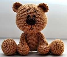crochet pattern amigurumi teddy teddy bear by MOTLEYCR… Crochet Amigurumi Free Patterns, Free Crochet, Diy Doll Costume, Crochet Teddy, Bear Doll, Elephant Pattern, Doll Crafts, Amigurumi Doll, Lana