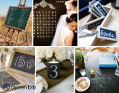 In my imaginary wedding we are having lots of chalkboards