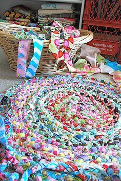 cute braided rug