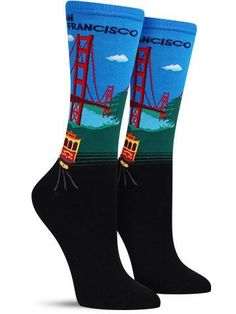 In case it wasn't already apparent you were proud to be from the Bay Area, let these awesome colorful socks erase all doubt. Whether roaming around the Embarcadero, going beer tasting in SOMA or hangi