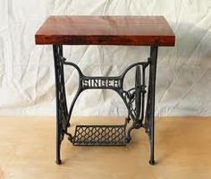 Singer sewing bases, to be used as bedside tables