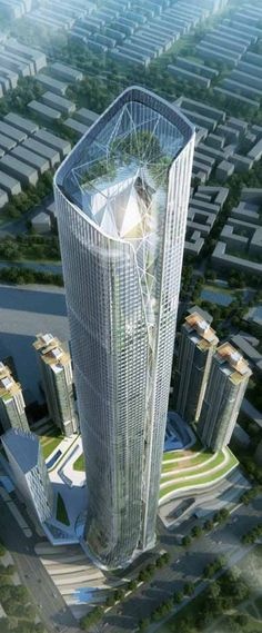 Shenyang Tower, Shenyang, China by RMJM Architects :: 92 floors, height 518m, competition entry