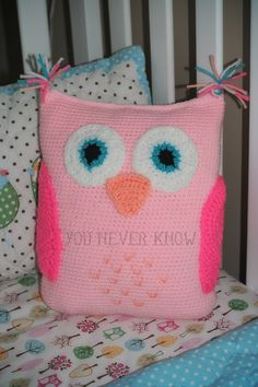 * You Never Know: Claras Owl Pillow.  Simple pattern instructions on the site.