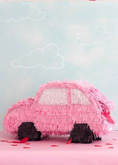 You can make a pink car piñata for your next party with this easy tutorial.