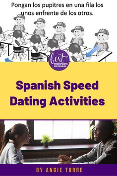 "Watch your students speak Spanish as they play Spanish Speed Dating or La cita rápida, three speaking activities for Spanish 1, 2, & 3. While trying to find the perfect candidate with whom to go out on a date, students practice the imperfect tense, the present perfect tense and ""tú, usted, ustedes"" questions. Students speak Spanish the entire time as they ask questions and record their answers.  Perfect activity for Valentine's Day! Click here to see what is included. Spanish Games, Spanish 1, Spanish Activities, How To Speak Spanish, Fun Activities, Present Perfect, Speed Dating, Student Learning, Im Not Perfect"